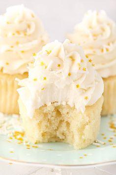 Moist Vanilla Cupcakes - Life Love and Sugar
