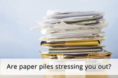 Feeling overwhelmed by paper clutter? Try this tip!