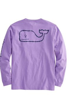 105dd5a74cb8 Long-Sleeve Vintage Whale Graphic Pocket T-Shirt Vineyard Vines Long Sleeve,  Vineyard