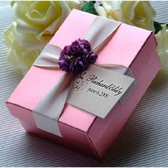 Personalized Beautiful Wedding Favor Box