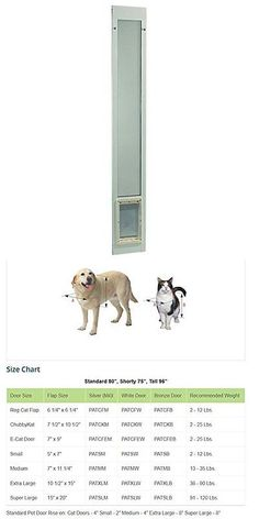 Doors And Flaps 117421: Ideal Pet Fast Fit Patio Door For Pets 80In Cat Flap