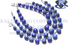 Lapis Lazuli Faceted Heart (Quality A) Shape: Heart Faceted Length: 18 cm Weight Approx: 8 to 10 Grms. Size Approx: 7 to 10 mm Price $20.80 Each Strand