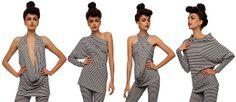 Vestido convertible All in One de Norma Kamali (multivestido) : VCTRY's BLOG Vestido Convertible, Convertible Clothing, Diy Clothing, Sewing Clothes, Clothing Patterns, Fashion Sewing, Diy Fashion, Fashion Outfits, Norma Kamali