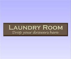 'Laundry Room' Sign