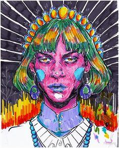 Painting Inspiration, Art Inspo, Arte Sketchbook, A Level Art, Art Hoe, Ap Art, Psychedelic Art, Pretty Art, Love Art