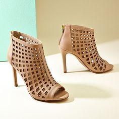 Infusion Caged Leather Bootie
