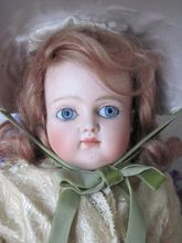 Antique German Early Kestner Closed Mouth AT type Bisque Head Doll