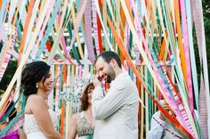 Colorful & Eclectic Rosemary Beach Wedding - Every Last Detail Candy Theme Birthday Party, Our Wedding, Dream Wedding, Wedding Dinner, Spring Wedding, Wedding Bells, Ribbon Backdrop, Lighthouse Wedding, Destination Wedding Decor