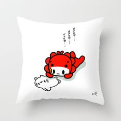 draw draw draw.... Throw Pillow by Ziqi - $20.00