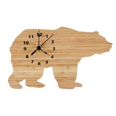 Elegant Trend Lab Wall Clock Northwoods Bear Complement any room with this stylish Northwood us Bear Wall Clock The bear shaped clock is made of natural bamboo