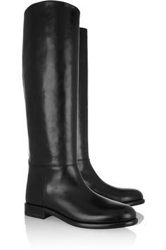 Marni|Leather knee boots|NET-A-PORTER.COM