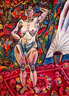 "cubism-art: ""Standing Nude by Joan Miro "" Joan Miro Pinturas, Joan Miro Paintings, Cubism Art, Hieronymus Bosch, Spanish Painters, Spanish Artists, Inspiration Art, Klimt, Pablo Picasso"
