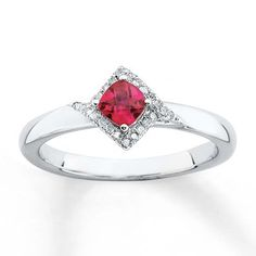 This Cushion Shape Halo Syn. Created Ruby & Diamond ring is just eye-popping. This ring contains Syn. This ring is made of fine 925 Sterling Sterling Silver. This Men's ring is manufactured by Stackable Expressions Jewelry Brand Metal Jewelry, Gemstone Jewelry, Fine Jewelry, Silver Jewelry, Diamond Jewelry, Craft Jewelry, Jewellery, Ruby Diamond Rings, Emerald Diamond