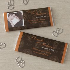 Wedding Favor Personalized Chocolate Bar Wrers Paisley 8118