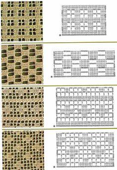 Oi Pessoal !!!!Hoje trago para vocês alguns PontosFantasia em Crochê Com Gráfico.