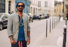 Men's Boho Clothing layered boho style Paris