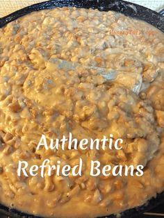My Grandma's authentic refried beans recipe! My Grandma's authentic refried beans recipe! My Grandma's authentic refried beans recipe! Authentic Mexican Recipes, Mexican Food Recipes, Mexican Appetizers, Mexican Desserts, Healthy Mexican Food, Drink Recipes, Mexican Entrees, Dinner Recipes, Filipino Desserts