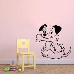 muro adesivi vinile decal sticker home decor dalmata cucciolo cane ... - Interni Ragazze Camera Design