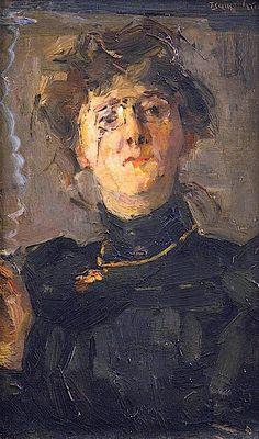 """Portrait of the artist Thérèse van Duyll-Schwartze"" by Isaac Israels"