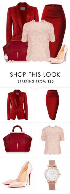 """Bottom Series 5/6: Pencil Skirt *OUTFIT ONLY!* - Contest!"" by asia-12 ❤ liked on Polyvore featuring Dondup, Raoul, Valentino, Christian Louboutin, Larsson & Jennings and Monica Vinader"