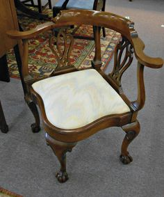 Hancock-and-Moore Mahogany Chippendale Corner Chair