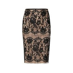 Lanvin Lace and satin skirt