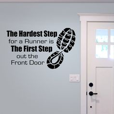 The Hardest Step for a Runner vinyl decal by OffTheWallExpression