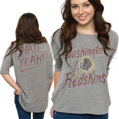 Junk Food Washington Redskins Ladies Premium Hi-Lo Hem Game Day Tri-Blend T-Shirt - Ash Redskins Gear, Redskins Fans, Football Fans, Football Parties, Football Season, Nike Gifts, Gear Shop, Burgundy And Gold, Washington Redskins