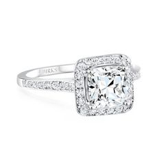 Perfect!!!! THE AMORIQUE DIAMOND® Collection, Pavé Diamond Engagement Ring in Platinum