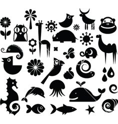 Animal icons vector 165003 - by ma_rish on VectorStock®
