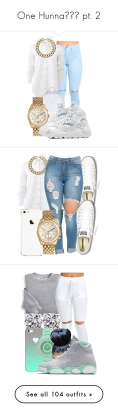 """""""One Hunna pt. 2"""" by trxll-qxeen ❤ liked on Polyvore featuring rag & bone, Herschel Supply Co., Michael Kors, NIKE, Topshop, Converse, Blair, Blue Nile, Casetify and Kate Spade"""