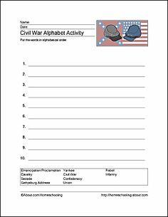Civil War Printables - Civil War Wordsearch. Print the Civil War Word Search and find the Civil War related words.