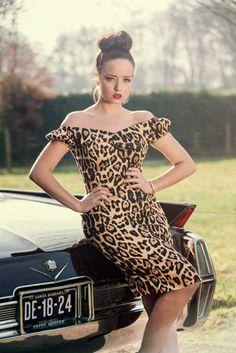 Collectif Dolores Dress Feral | Jurken | Miss Vintage | Retro, vintage geïnspireerde dames kleding