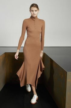camel maxi dress. women fashion outfit clothing style apparel @roressclothes closet ideas
