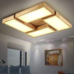 JJ moderna lampada da soffitto LED il soggiorno luce solido rettangolare ciocchi di legna Nordic ,<br /> Geometria maestro giapponese camera da letto minimalista fari a led luce a soffitto, 760mm*130 mm,220V-240V