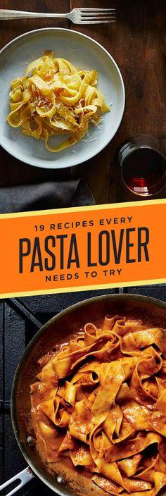 19 Delicious Pasta Recipes You Need In Your Life Yummy Pasta Recipes, New Recipes, Cooking Recipes, Favorite Recipes, Healthy Recipes, Special Recipes, Lotsa Pasta, Lemon Pasta, Amor