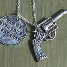 Pistol Charm Necklace