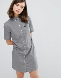 Fred Perry Authentic Gingham Shirt Dress