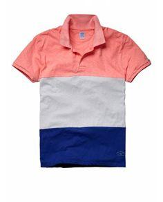 Polo en jersey à blocs de couleur - Nouveautés - Official Scotch & Soda Online Fashion & Apparel Shops