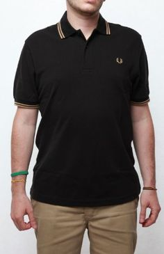 Fred Perry Classic M1200 Men's Polo Black/Camel/Camel « Impulse Clothes