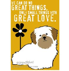 Lhasa Apso Dog Art Print Wall Decor Mother Theresa by GoingPlaces2, $14.00