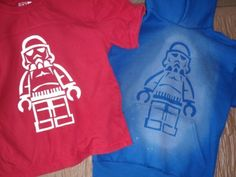 freezer paper stencil lego guy stormtrooper star wars t-shirt hoodie