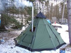 Guide gear teepee tent in action.