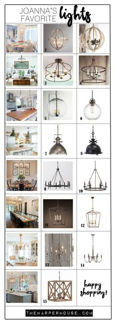 Pendant Light options for the Kitchen Island
