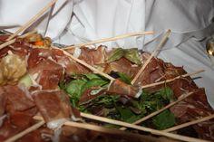 Serrano-Schinkenplatte auf einem herbstlichen Buffet im Seehaus am Riessersee von Küchenchef Frank Aust