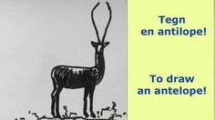 Tegn en antilope! To draw an antelope!drawing, draw animals, draw art,  draw and sketch, youtube, tegning, skisser ideas, videos, sketches www.maleriarenaer.com
