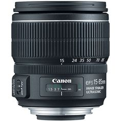 The Canon EF-S 15-85mm f/3.5-5.6 IS USM standard zoom lens sets a new standard for everyday photography on APS-C sensors. With a focal length range equivalent to 24-136mm in 35mm format image stabili...