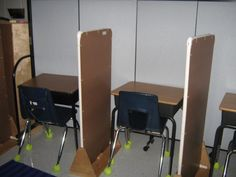 If you& watched my classroom tour video, you know that my classroom is sort of a maze. Each area is clearly defined with physical boundar. Classroom Desk, Classroom Layout, Classroom Projects, Autism Classroom, Classroom Setting, Future Classroom, Desk Dividers, Learning Environments, Behavior Management