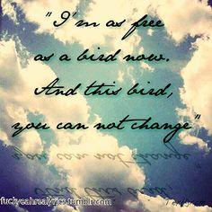 Rock and Roll Lyric Quotes | ... skynyrd lyrics free bird