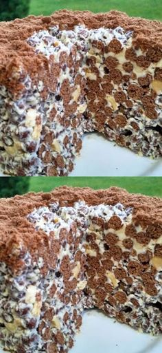 Drinks Recipes Awesome crispy cake without baking in a few minutes No Cook Desserts, Just Desserts, Easy Cake Recipes, Dessert Recipes, Oreo Bars, New Drink Recipe, Pudding Cake, Baked Salmon, World Recipes